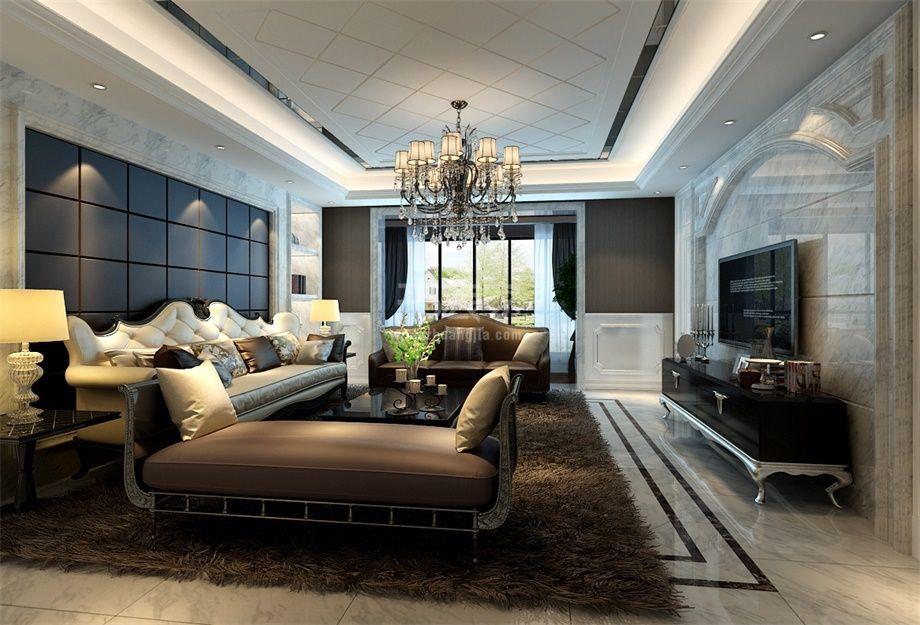 曲江公馆和园260平新古典风格装修设计方案